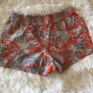 J Crew orange paisley print shorts